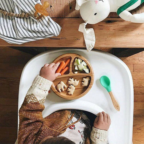Avanchy Bamboo Suction Classic Plate + Spoon GN