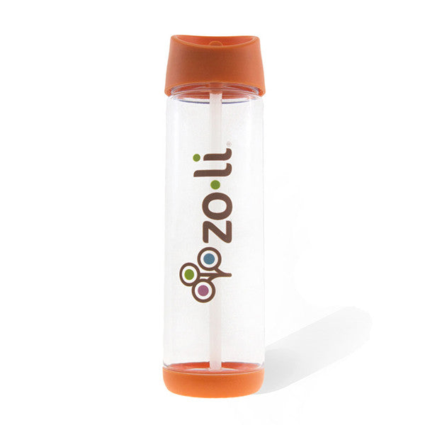 Zoli Baby PIP Straw Water Bottle Orange