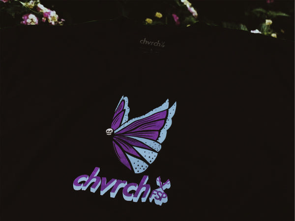Butterfly Graphic T-shirt: Black