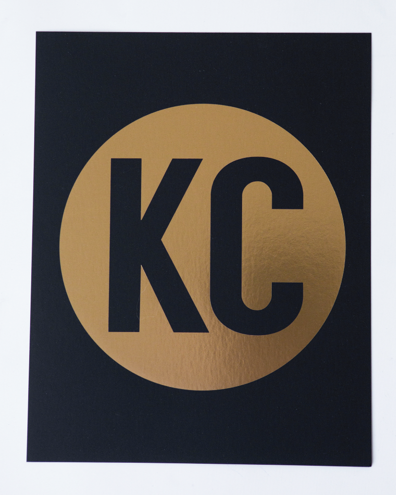 KC Gold on Black Art Print