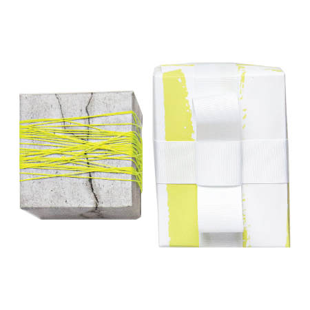 Sheet of Concrete/Yellow Brush Gift Wrap