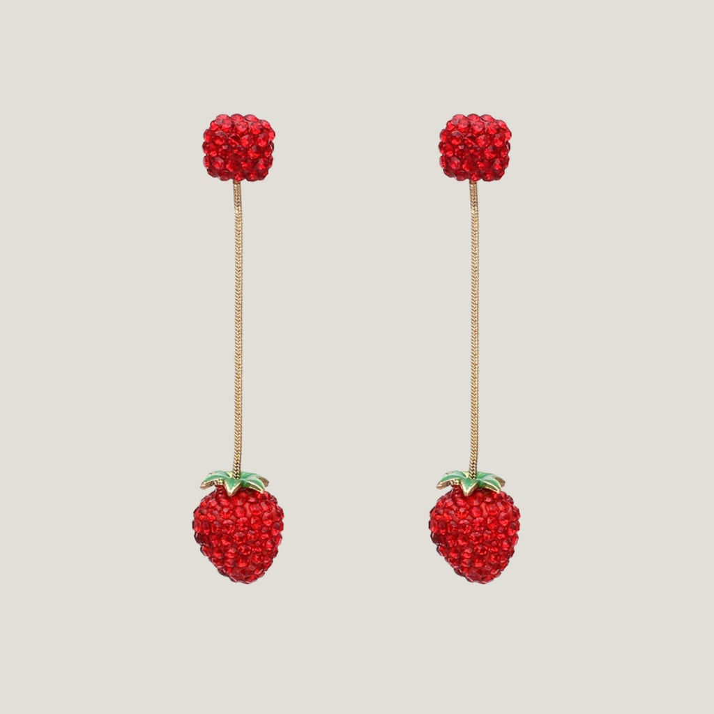 Sparkle Strawberry Earrings