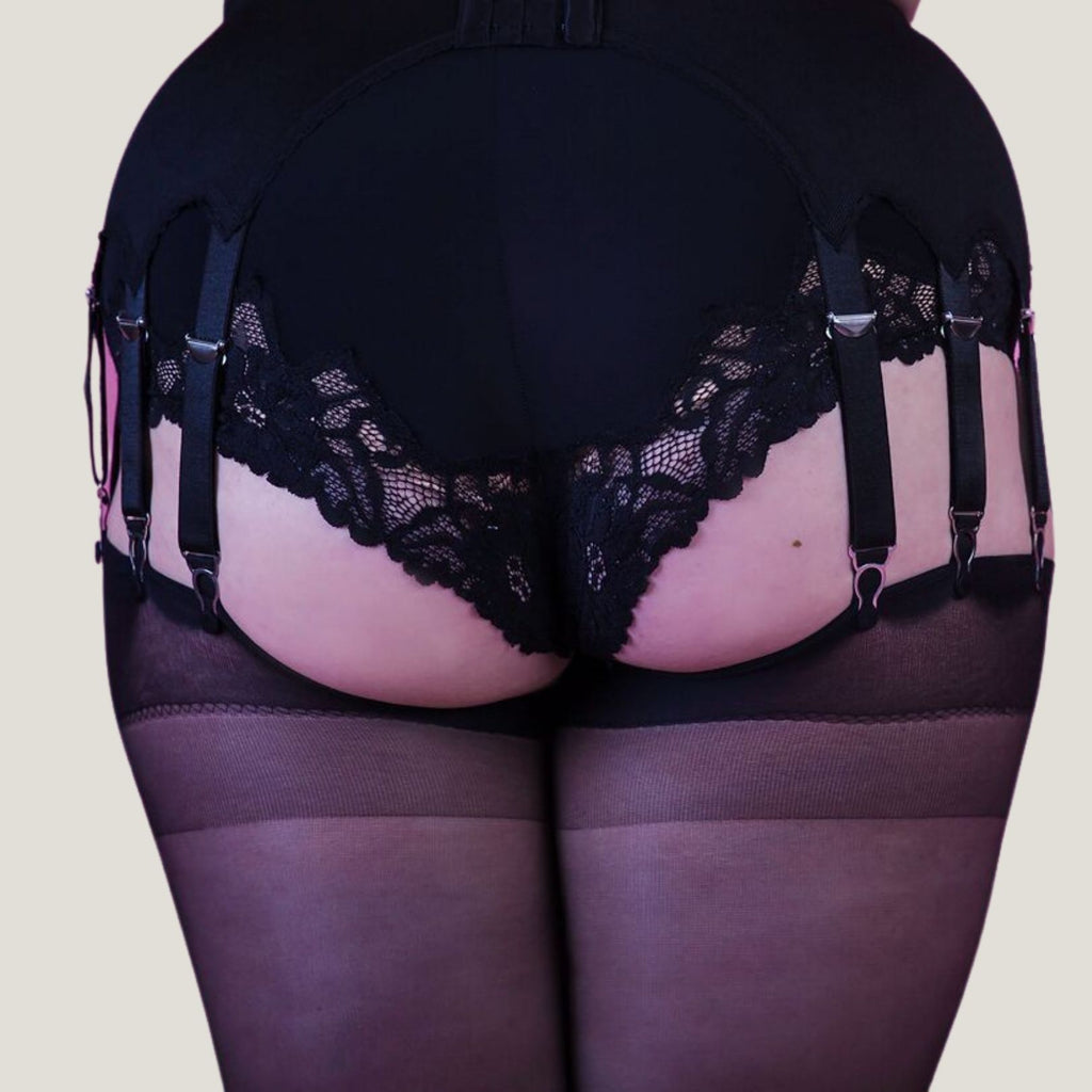 Everyday Glamour 14 strap suspender belt