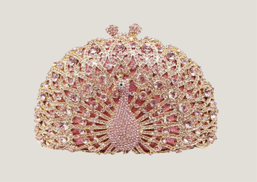 Pink Peacock Clutch