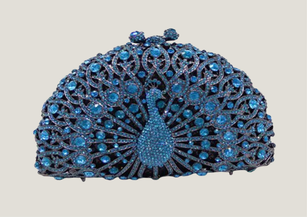 Blue Peacock Clutch