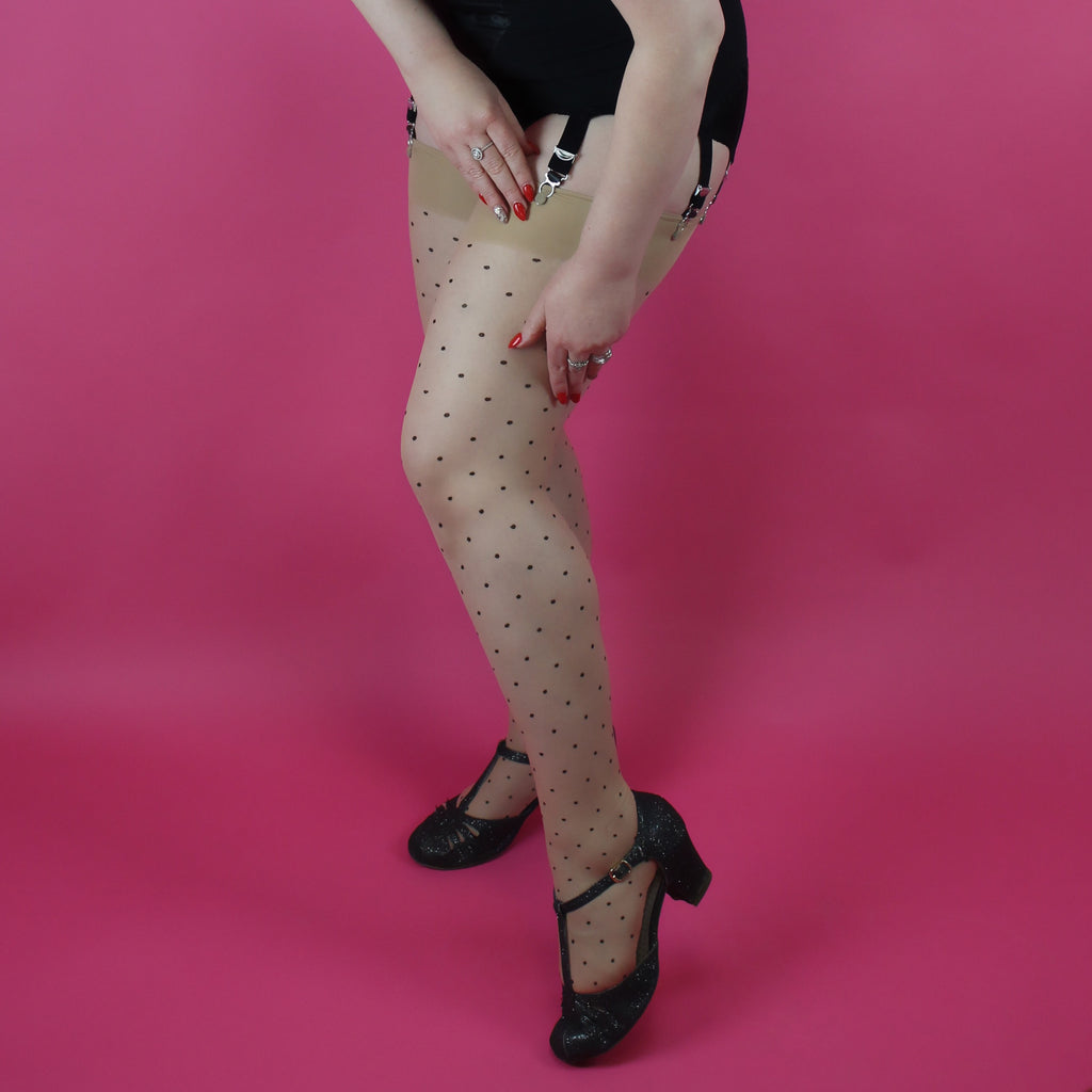 The Nylon Swish - 'Dottie the Minx' seamed stockings