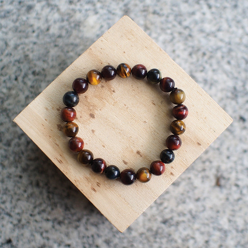 Tiger Eye Trio Bracelet (8mm Beads)
