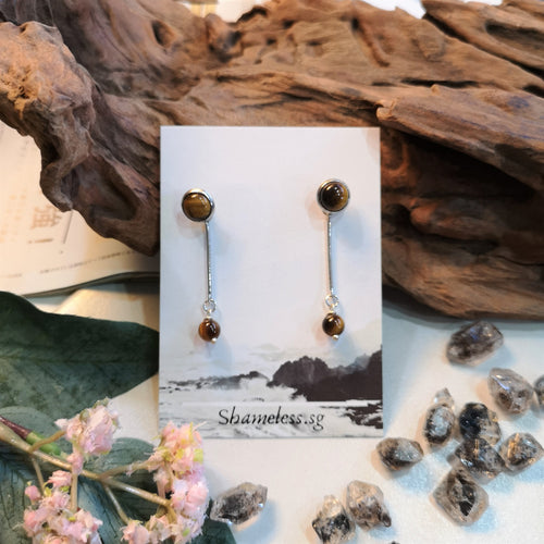 Tiger Eye Rebel Versatile Earrings Bead Edition