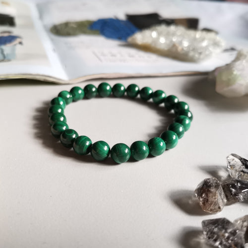 Malachite (7.7mm Beads)