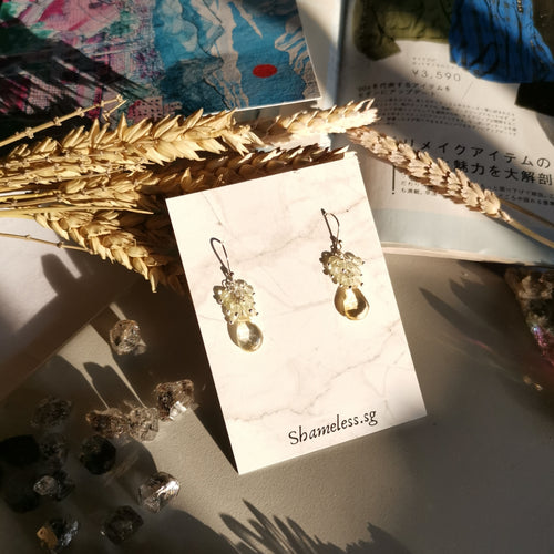 Janet Earrings In Citrine Stones