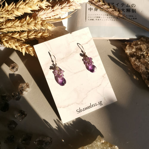 Janet Earrings In Amethyst Stones