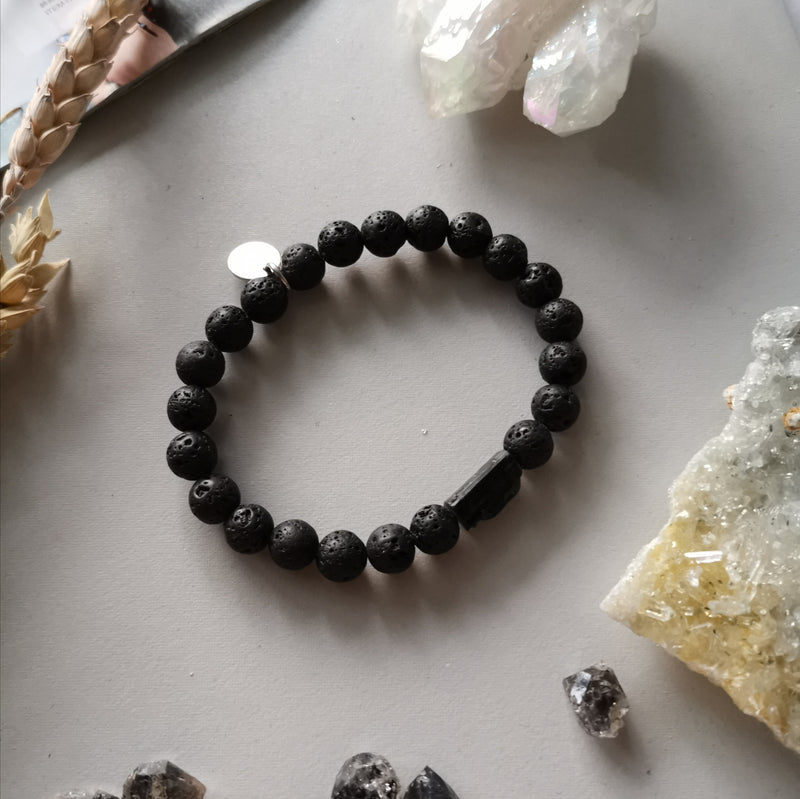 Handers Bracelet In Lava Rock