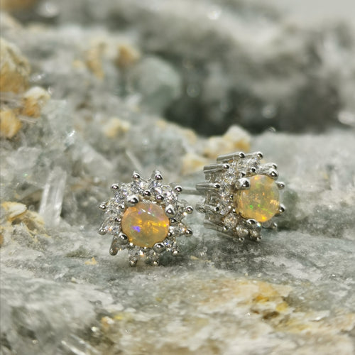 """Sunshine""  Opal Earrings"