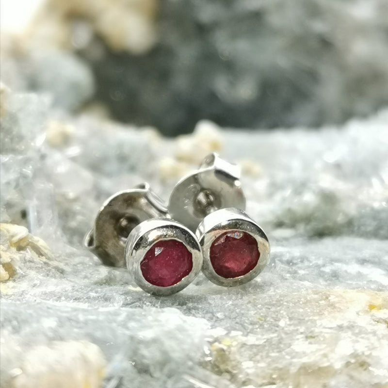 (Selfless) Stud Earrings In Ruby