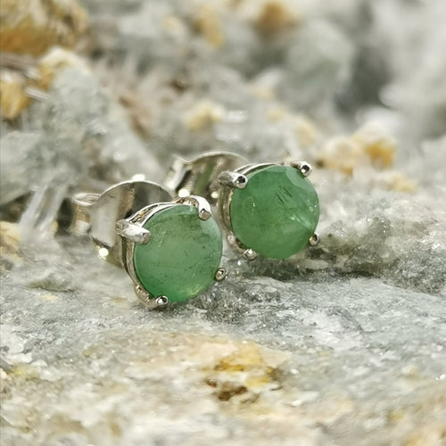 (Fearless) Stud Earrings In Emerald