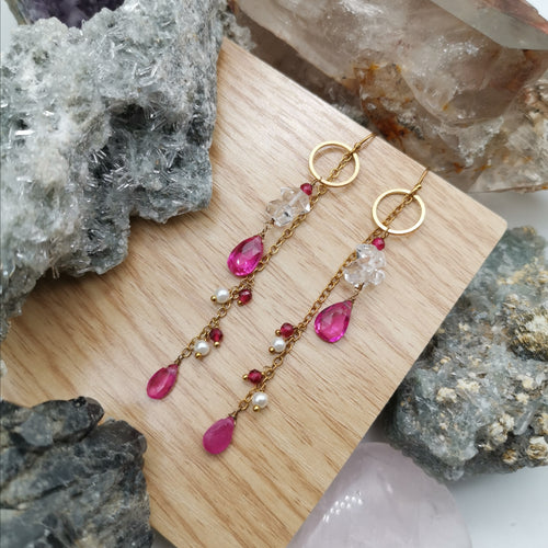 Lady M in Magenta (Elysian Earrings)