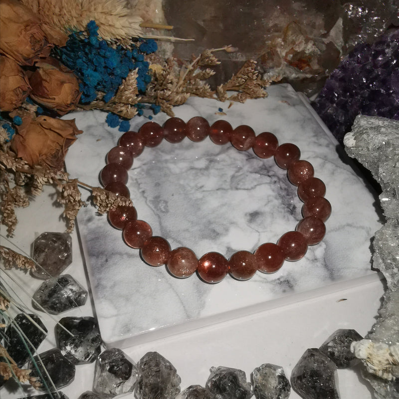 Dark Sunstone (8.4mm Beads)