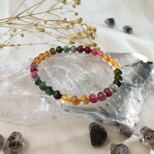 Watermelon Tourmaline Bracelet 6mm