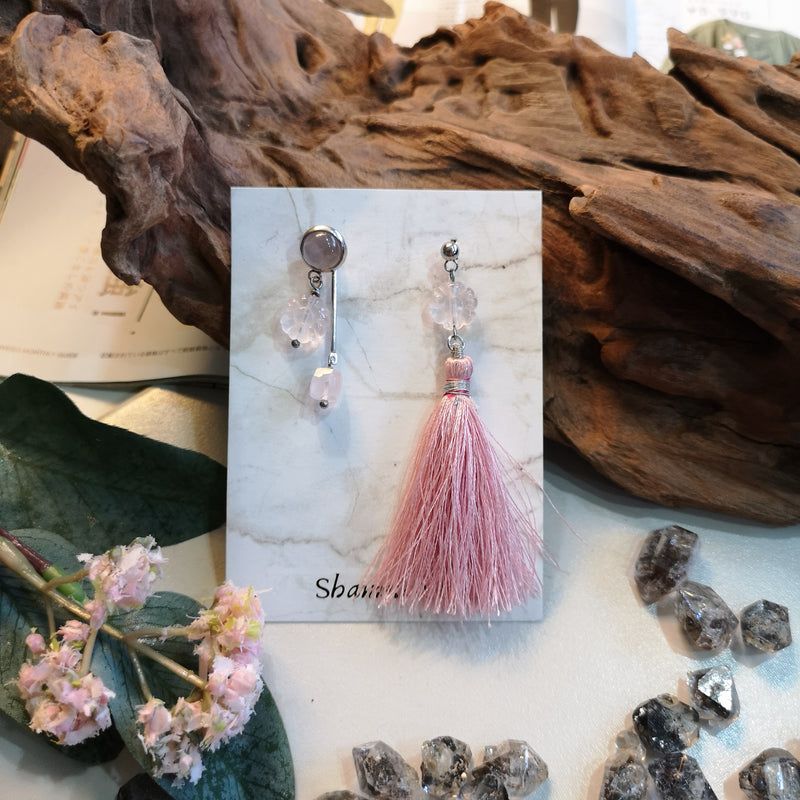 Flora Rose Quartz Earrings