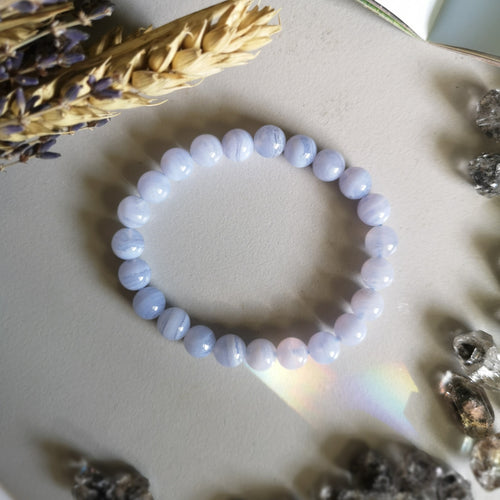 Blue Lace Agate (8mm Beads)