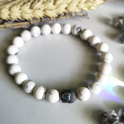 howlite x buddha (8MM Beads)