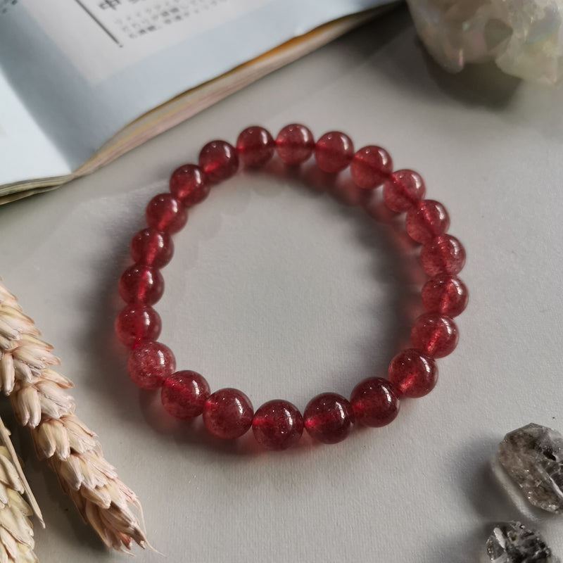Strawberry Quartz (8.5mm Beads)
