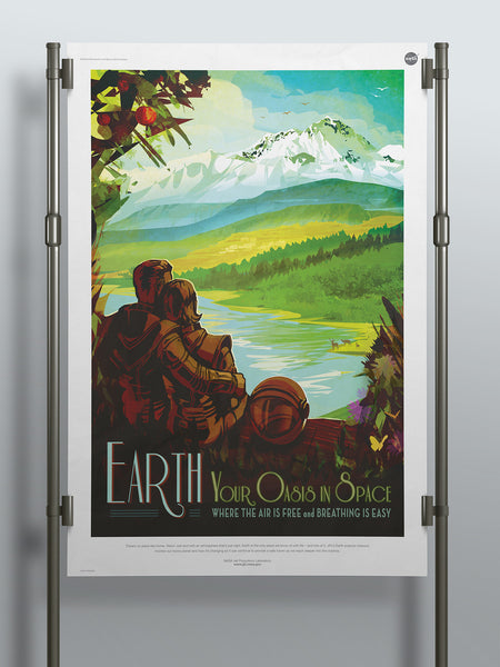 Earth: Your Oasis in Space - NASA JPL  Space Tourism Poster