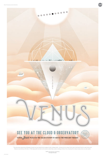 Venus: See You at the Cloud 9 Observatory - NASA JPL Space Tourism Poster