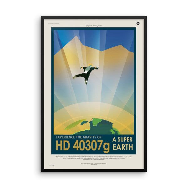 HD 40307g - Experience the Gravity of a Super Earth - NASA JPL Space Tourism Poster