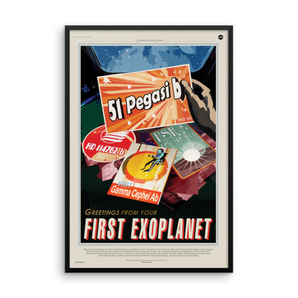 51 Pegasi b - Greetings From Your First Exoplanet - NASA JPL Space Travel Poster