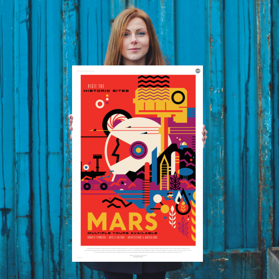 Mars: Visit the Historic Sites - NASA JPL Space Tourism Poster