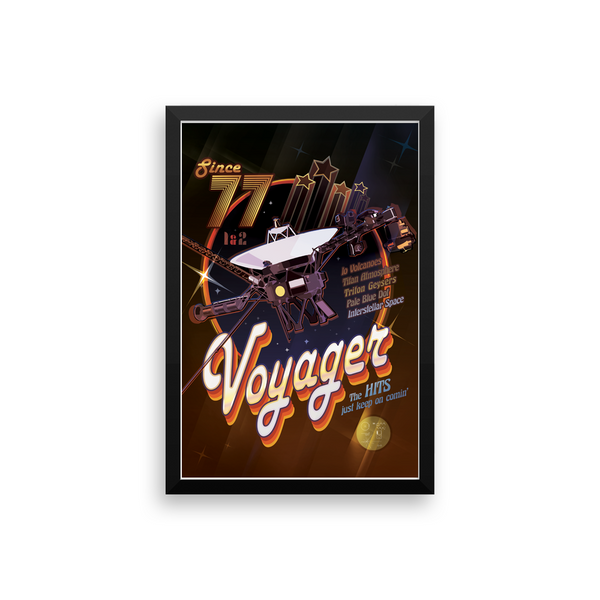 The Voyagers Rock On - NASA JPL Space Tourism Poster