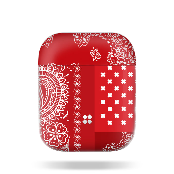 AIRPODS PRISMART CASE: PAISLEY RED