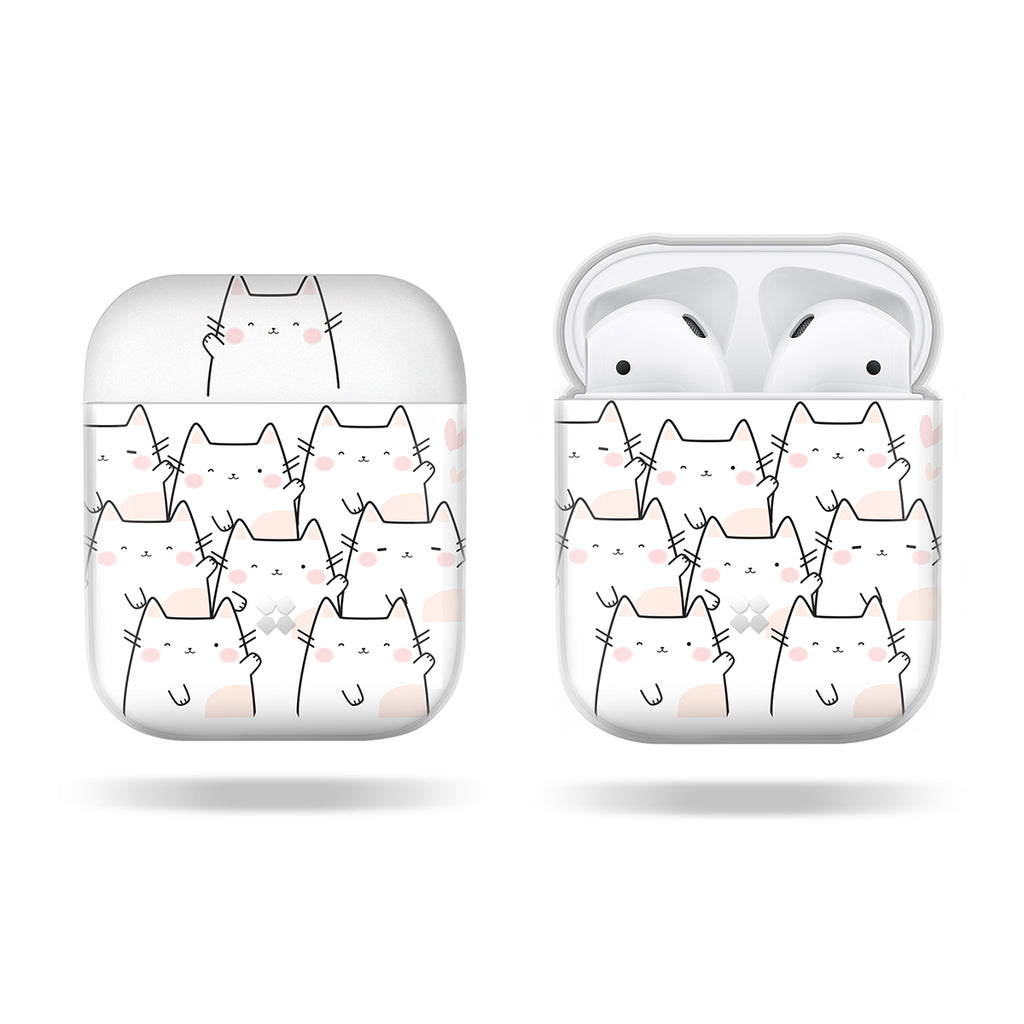 AIRPODS PRISMART CASE: WHITE CAT