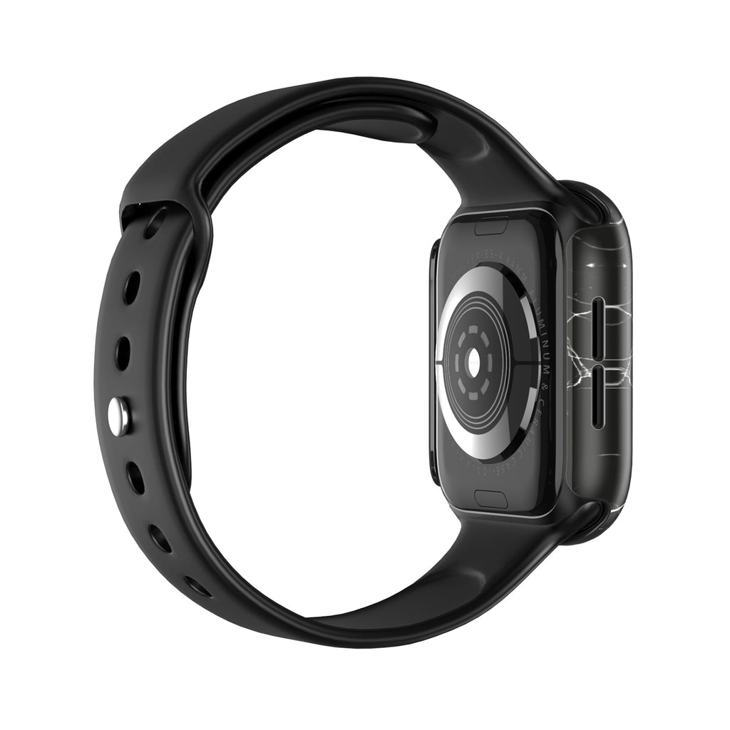 APPLE WATCH (44mm) PRISMART CASE: MARBLE BLACK