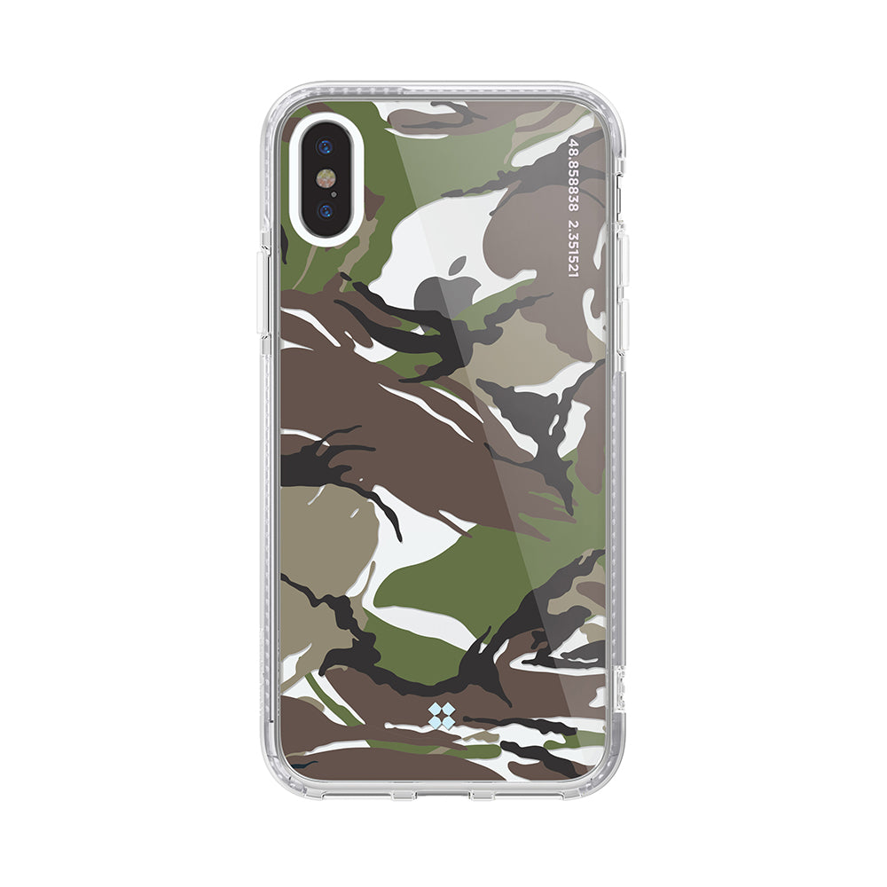 iPHONE XS PRISMART CASE: CAMO WOOD