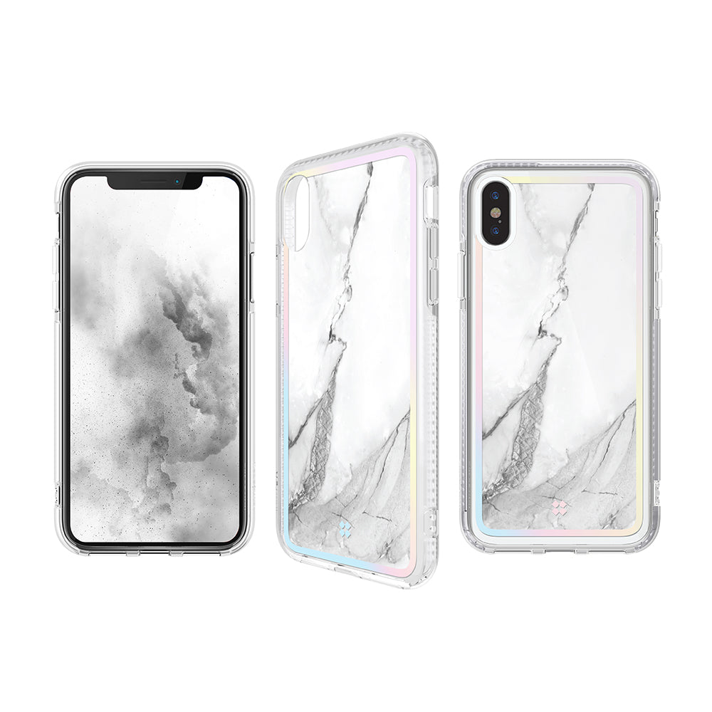 iPhone XS MAX PRISMART CASE: MARBLE WHITE