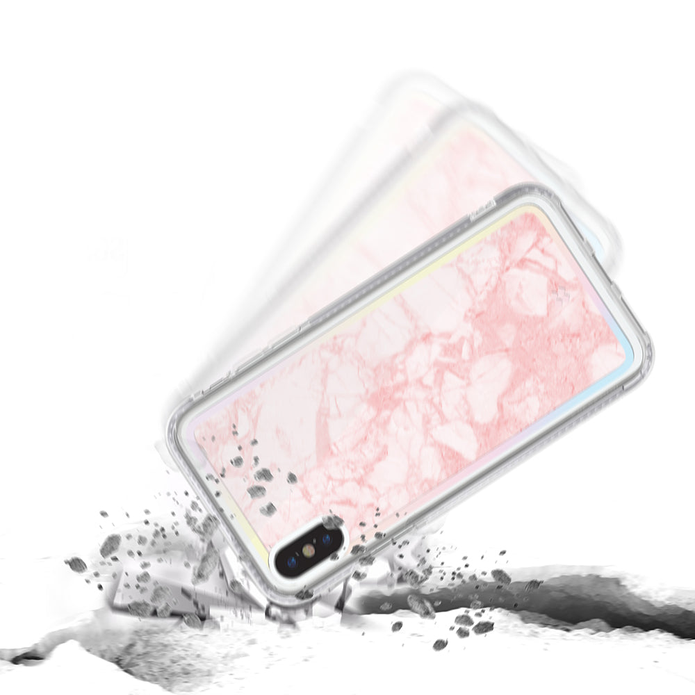 iPHONE XS PRISMART CASE: MARBLE PINK