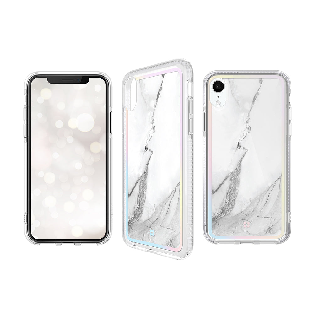 iPhone XR PRISMART CASE: MARBLE WHITE