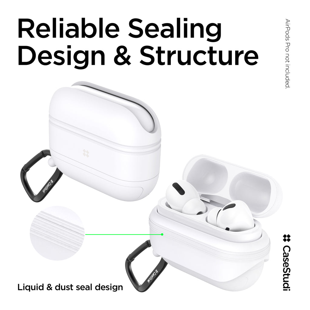 AIRPODS PRO WATERPROOF CASE: WHITE
