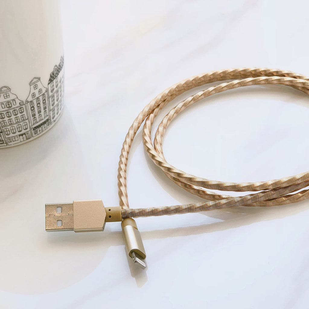 LIGHTNING CABLE: COMBAT GOLD 1M