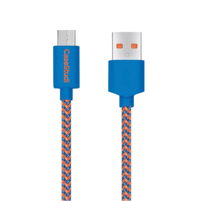 MICRO USB CABLE: BALLISTIC LIGHT BLUE 1M