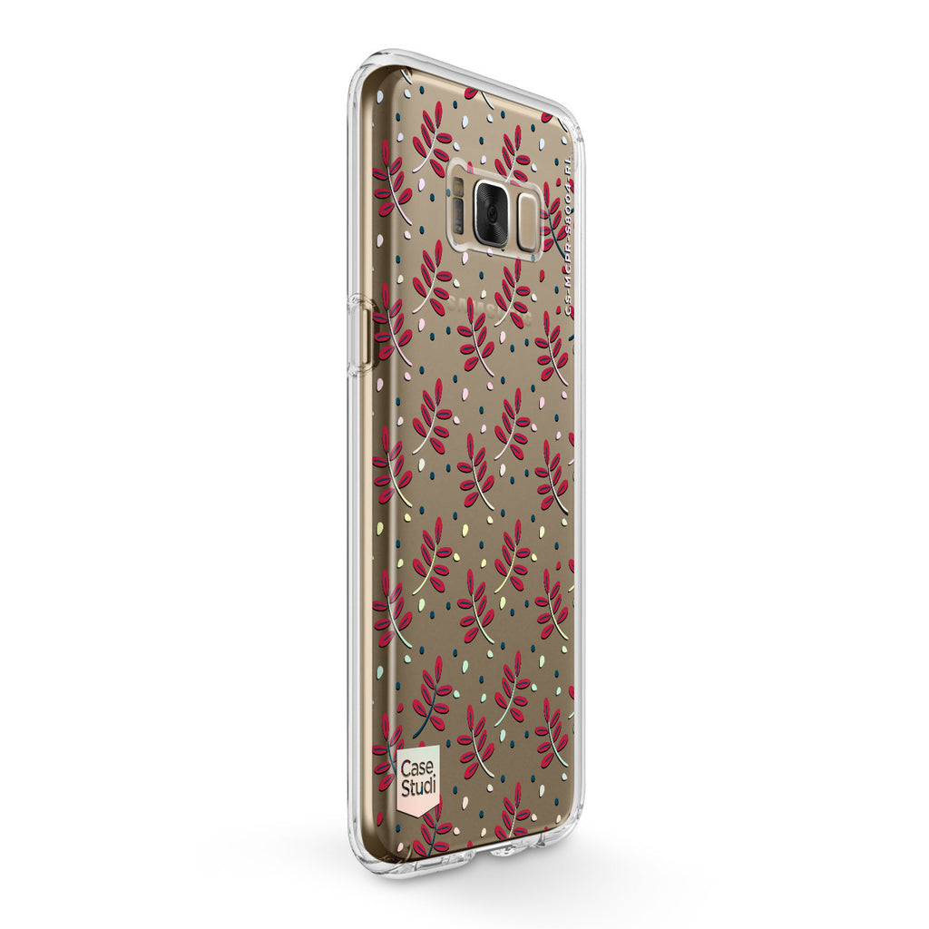 GALAXY S8 / S8 PLUS PRISMART CASE: RED LEAVES