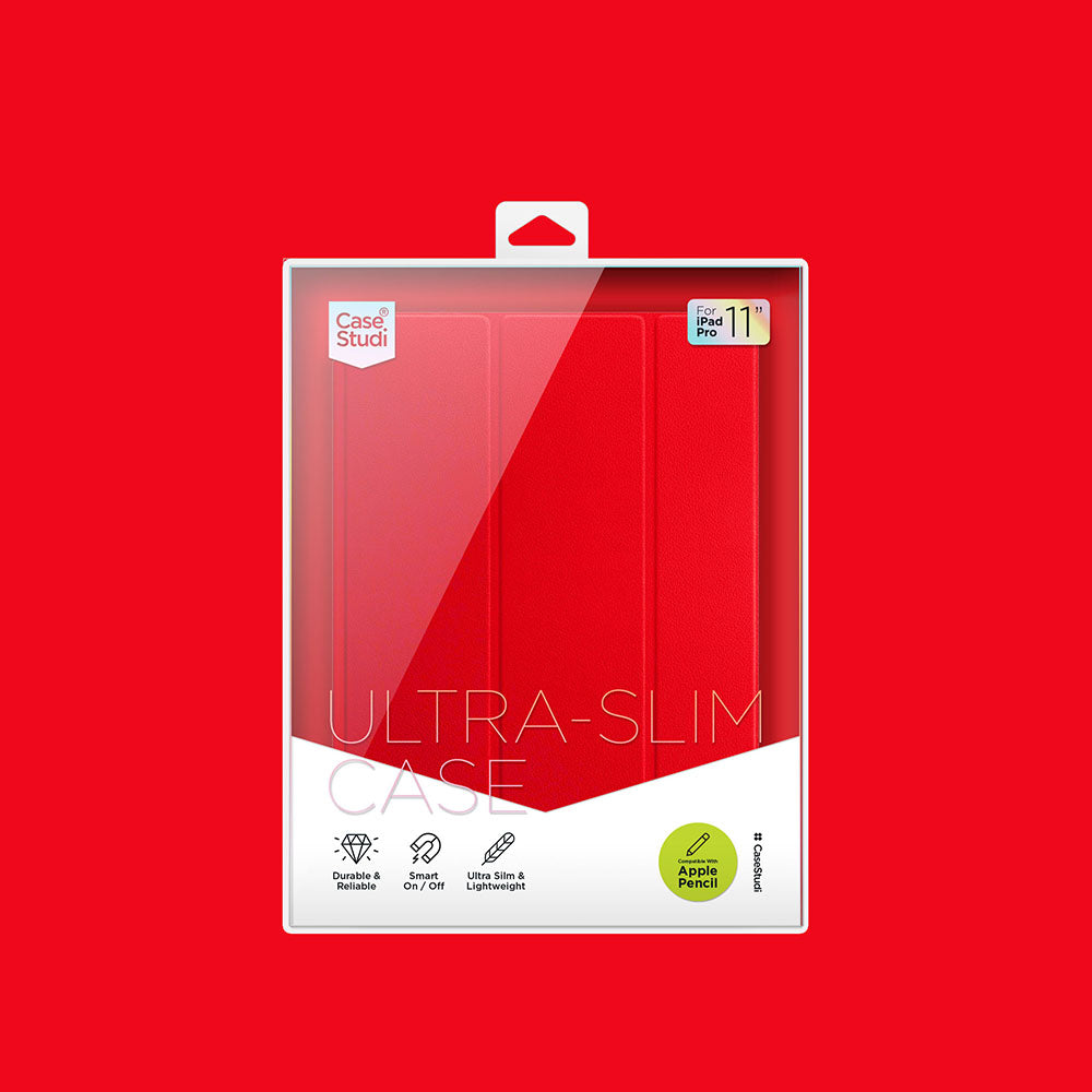 iPAD PRO 11 ULTRA SLIM CASE: RED