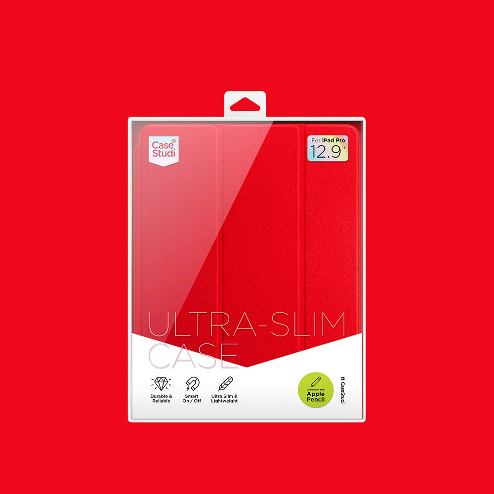 iPAD PRO 12.9 ULTRA SLIM CASE: RED