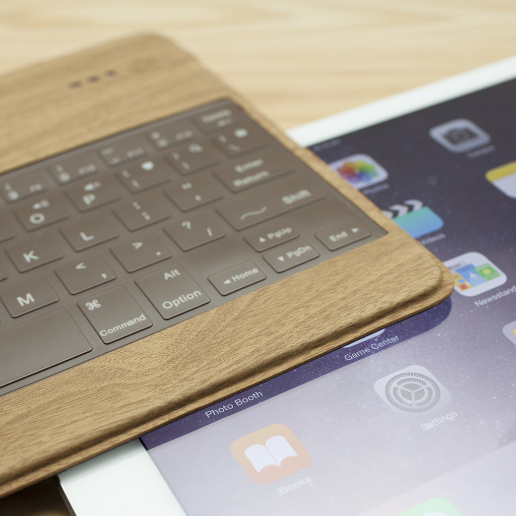 LIBRE: BLUETOOTH WIRELESS KEYBOARD (WOOD BROWN)