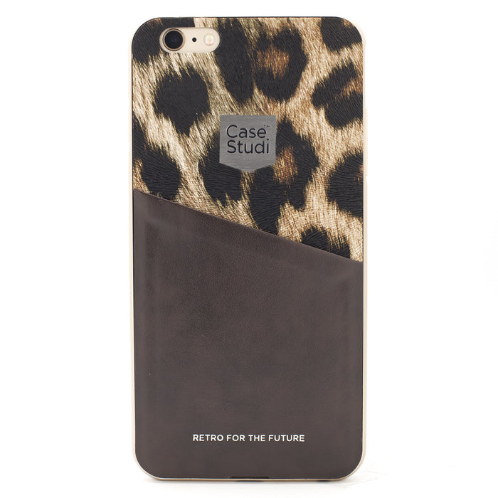 iPHONE 6/6S CONVERTIBLE BUMPER CASE: LEOPARD BROWN