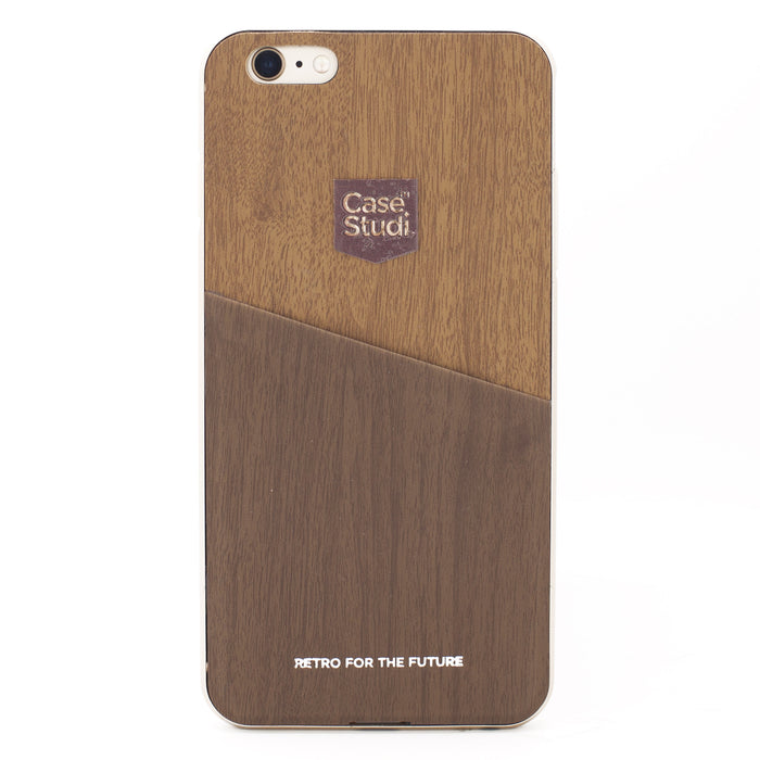 iPHONE 6/6S CONVERTIBLE BUMPER CASE: WOOD BROWN