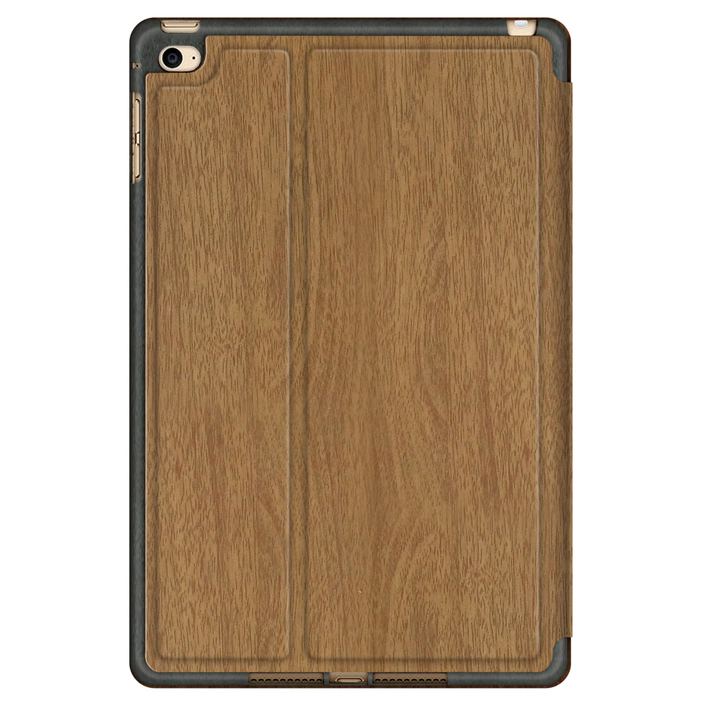iPAD MINI 4 BOOK CASE: WOOD BROWN