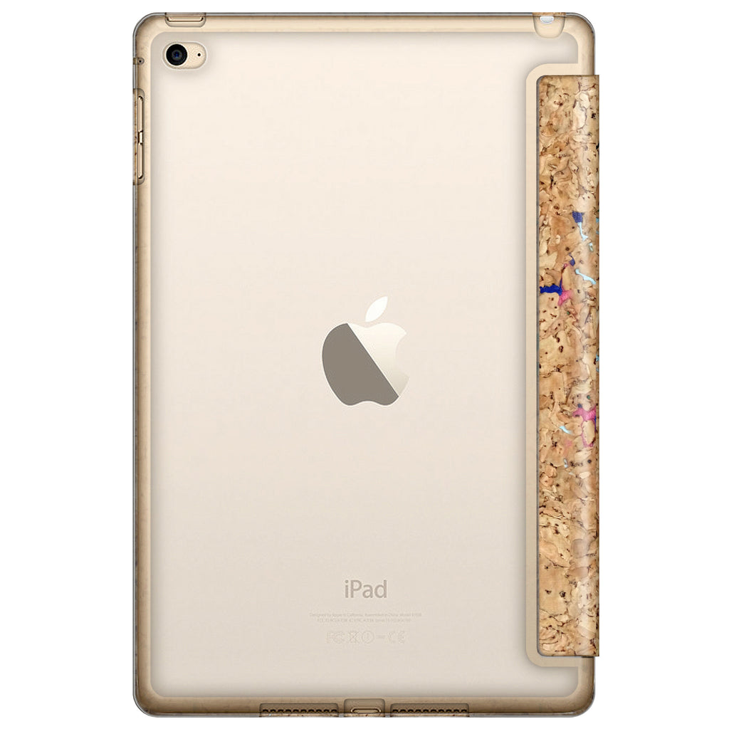 iPAD MINI 4 FOLDING CASE: CORKWOOD MIX